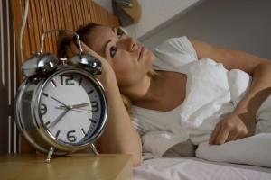 troubles du sommeil d'une femme